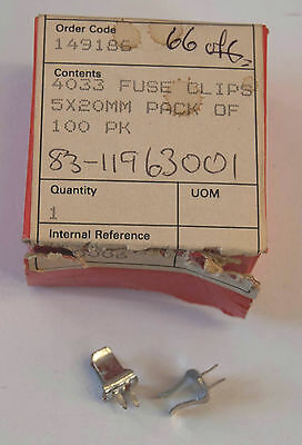 FUSE CLIPS 5x20mm, pack of 66