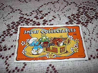 1982 Smurf Collectibles My Smurf Toy Collection Mini Book Checklist (VINTAGE!)