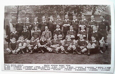 South Africa To England 1906 Rugby Union Postcard