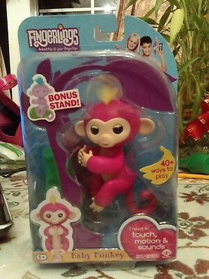 Quot Bella Quot Fingerling Monkey By Wow Wee Pink With Yellow
