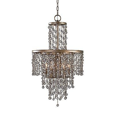 Antique Style Crystal Tiered 6 Bulb Light Chandelier|Dazzling Beaded Chandelier