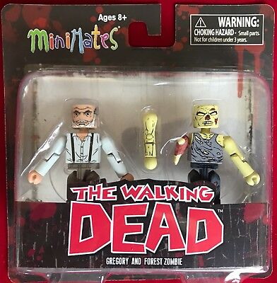 The Walking Dead Minimates Hilltop Gregory And Forest Zombie New Action Figure
