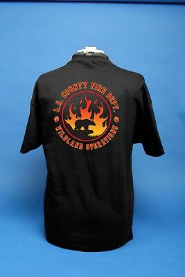 Los Angeles County Fire Department Wildland Operations Black T shirt.