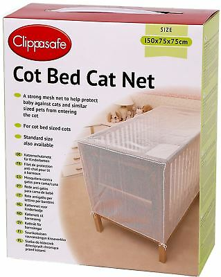 Clippasafe Cot Bed Cat Net Mesh Baby Child Kids Nursery Safety Proofing -BN