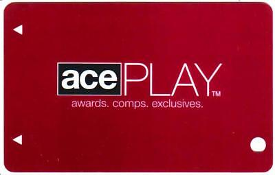STRATOSPHERE casino*Ace Play TopTier**MAROON**  BLANK~ LV nv*Slot/Players card
