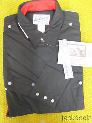 New Rockmount USA Black & Red Western Shooter Shirt VINTAGE NWT 16-34