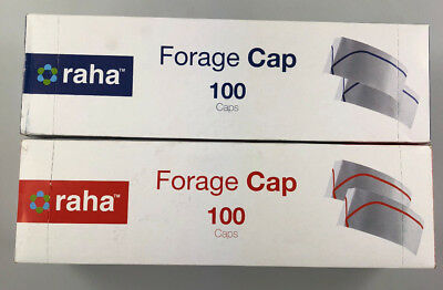 Box of 100 Forage Hats For Chefs, Kitchens, Cooks, Deli - Choose Stripe Colour