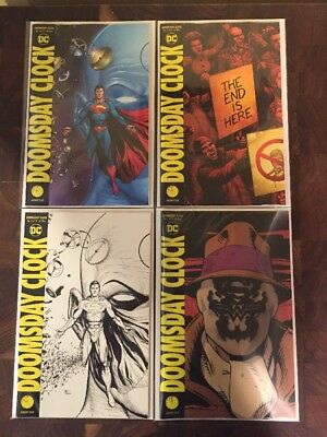 Doomsday Clock 1 11:57Pm Release,3D Lenticular Variant Set Of4 Dc Comic Watchmen