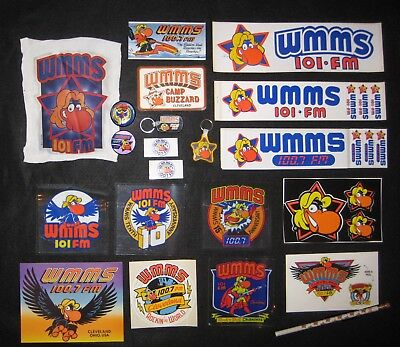 """""""THE ULTIMATE WMMS CLEVELAND BUZZARD STICKER and BUTTON PACKAGE!"""""""