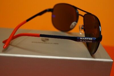 Porsche Piloten Sonnenbrille, Martini Racing Collection, inkl. Etui