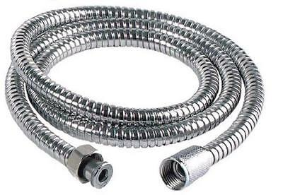Chrome Shower Hose Flexible Stainless Steel Replacement Pipe New  2 & 2.5 Meter