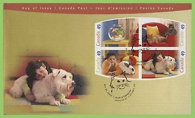 Canada 2004 Pets Self-adhesive imperf set on First Day Cover