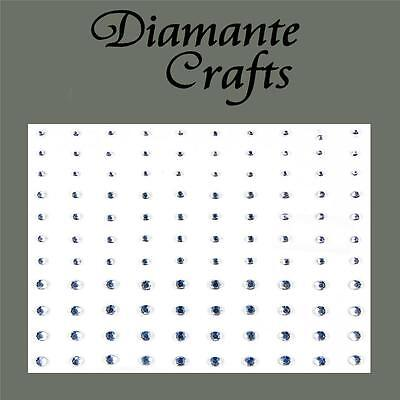 1mm 2mm 3mm Clear Diamante Self Adhesive Rhinestone Body Nail Vajazzle Gems