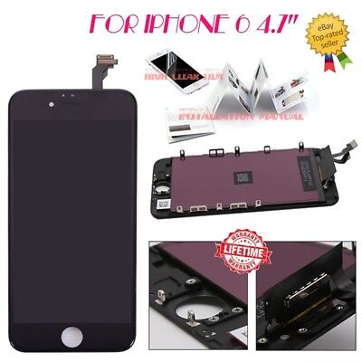 "For iPhone 6 4.7"" LCD Display Digitizer Screen Replacement Touch Assembly Black"