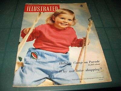 Vintage Magazines - Illustrated - 13Th August 1955 Holiday Camp On Parade