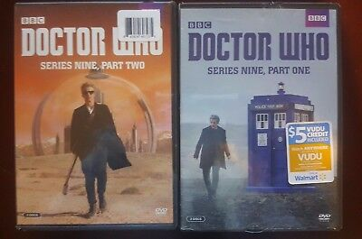 Doctor Who Series 9 Part 1 & 2 DVD Set BBC NEW Vudu Credit Included!