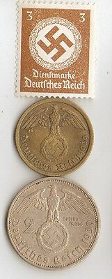 -*WW2 - Zink, Steel,  Brass,  Silver, - *us  and *german   coins/STAMPS +
