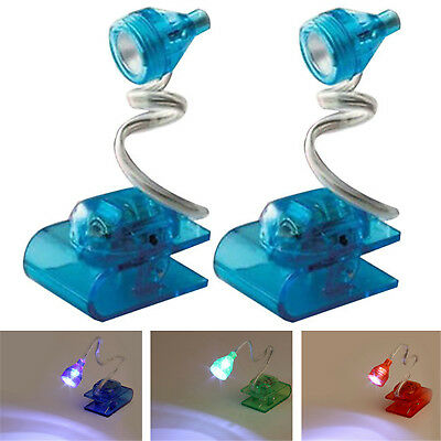 Hot Mini Led Clip On Adjustable Book Night Bright Reading Light Lamp Random HIGH