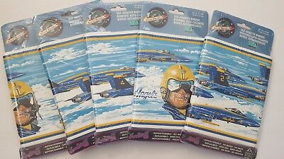 5 New Packages Of Blue Angels Fighter Jets Wall Paper Borders Self Adhesive USA