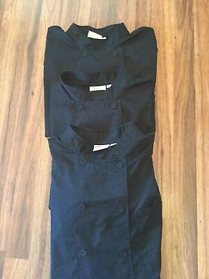 LOT OF 3 Chef Works Men's Montreal Cool Vent Chef Coat JLCV--SIZE XL--