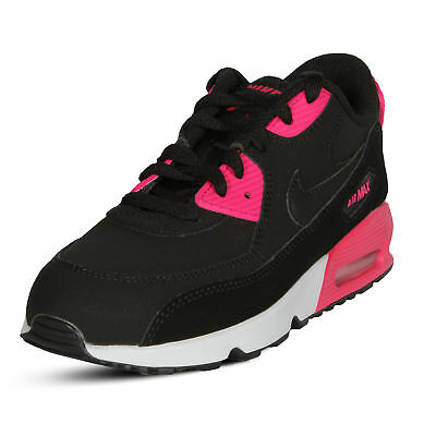 686066a224d005 GIRLS  NIKE AIR Max 90 Leather (PS) Pre-School (little Kids) Shoes  833377-010