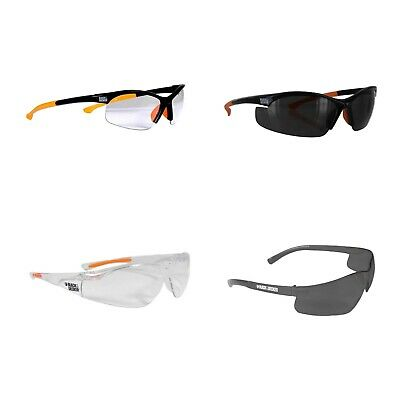 Black & Decker Safety Glasses Half OR No Frames In Clear OR Smoke Lense NEW