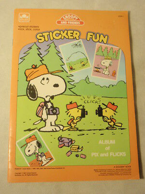 Golden Peanuts Snoopy & Friends Sticker Fun UNUSED