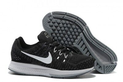 huge discount ff4fb be22e NIKE MEN'S AIR Zoom Structure 19 Black White Grey Shoes ...