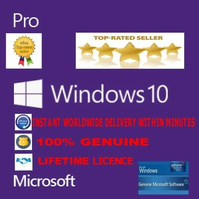 ✔GENUINE,WINDOWS 10 PRO 32/64bit DIGITAL OEM DOWNLOAD KEY✔ TRUSTED SELLER✔
