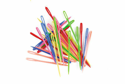 Plastic Darning Threading Sewing Needles (32pk) Great for Kids Classroom Pack