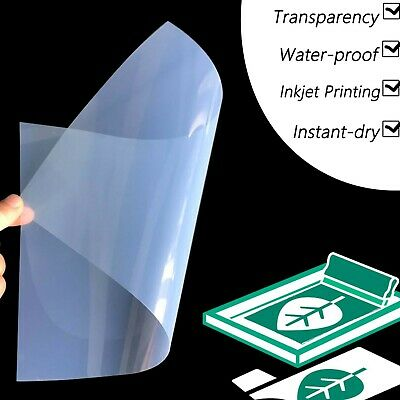 "13"" x 19"",100 sheets,Premium Waterproof Inkjet Transparency Film Paper"