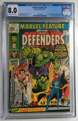 Marvel Feature #1 ~ CGC 8.0 OW/W ~ Origin/1st Appearance of The Defenders!
