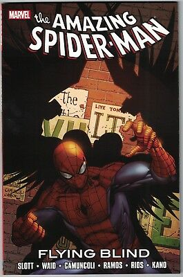 SPIDER-MAN FLYING BLIND TP TPB $16.99srp Dan Slott Black Cat Daredevil #674-677