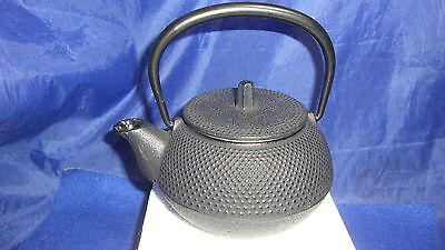 Vintage Signed Tetsusbin Cast Iron Teapot Kettle Chagama W/strainer