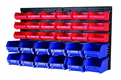 MaxWorks 80694 30-Bin Wall Mount Parts Rack/Storage for your Nuts Bolts Screws