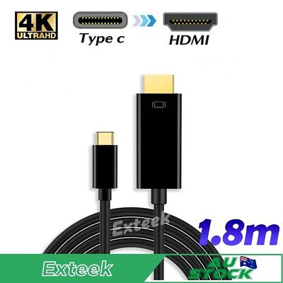 New USB C to HDMI Cable (5.9ft/1.8m)USB 3.1 Type C Male to HDMI Male 4K Cable