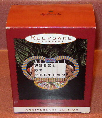 Hallmark Keepsake WHEEL of FORTUNE Ornament NEW Box 20th Anniversary 1995