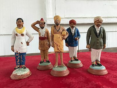 5 Antique Terracotta Figures from India by Cptn Norman D. Anderson OBE Jalavihar