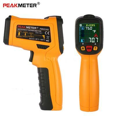 PEAKMETER PM6530D Hand -50 ~ 800 ° C 12: 1 Digital-Infrarot-IR-Thermometer X8X2