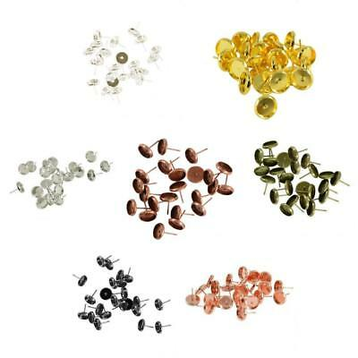 24pcs Wholesale Lots Cabochon Settings Earring Post Jewelry Finding(Fit 8mm)