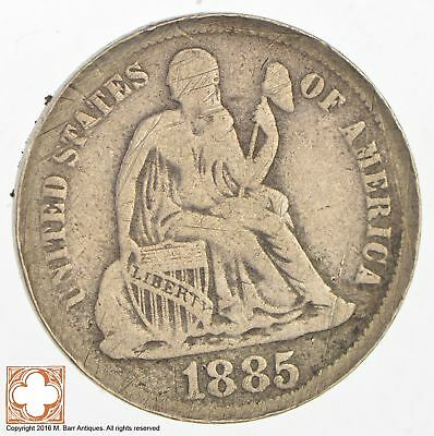1885 Seated Liberty Silver Dime *3042