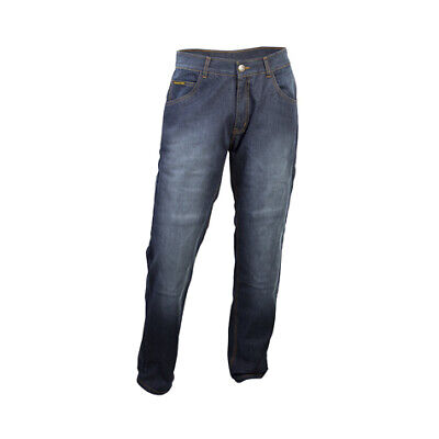Scorpion Mens Blue Wash Denim Covert Pro Motorcycle Riding Jeans Heavy Duty 32