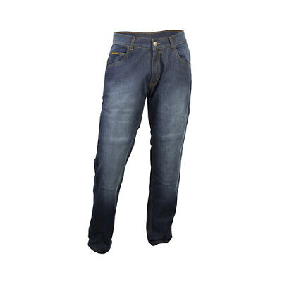 Scorpion Mens Blue Wash Denim Covert Pro Motorcycle Riding Jeans Heavy Duty 36