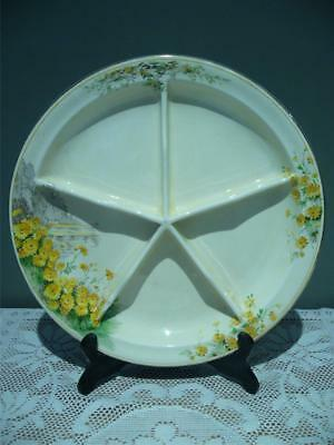 Royal Winton England Lovely 'yellow Morn' 5 Section Serving Plate - Good Cond