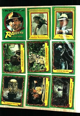 1981 Raiders Of The Lost Ark Trading Card Set (88) EXCELLENT