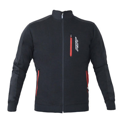 RST Technical Black Moto Motorcycle Motorbike Full Zip Casual Jacket | All Sizes