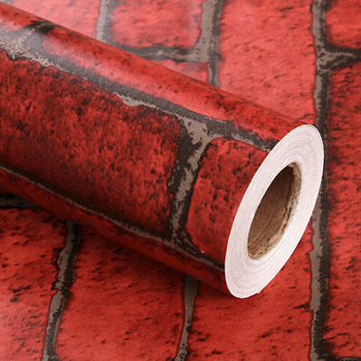 Red brick Curve 3d modern stone flower art wallpaper Roll mural Decor 1-10m USA