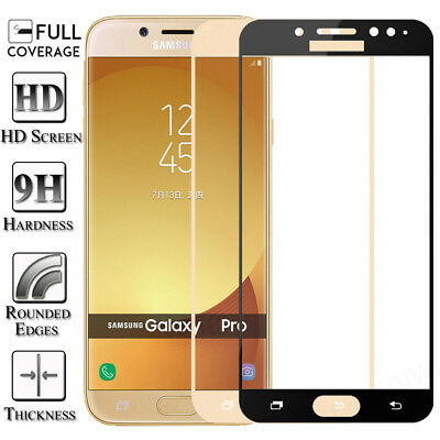 Full Cover Tempered Glass Screen Protector For Samsung Galaxy J3 J5 J7 Pro 2017