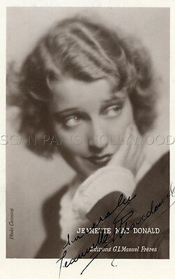 JEANETTE MAC DONALD VINTAGE FRENCH POSTCARD SIGNED SIGNE ANNEES 30 30s