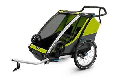THULE Chariot Cab2, Chartreuse - Fahrradanhänger incl. Buggy-Set